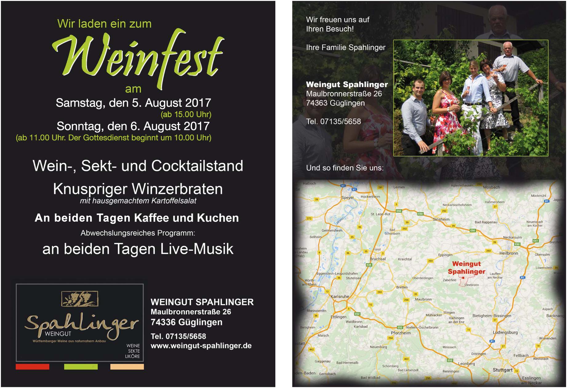 Spahlinger Weinfest 2017